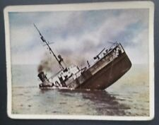 WWI German Cigarette Cards Der Weltkrieg Josetti Juno #244 Ship in Baltic 1917