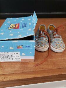 Toy Story Vans Woody Sneakers childrens size 4.5 Pixar Blue