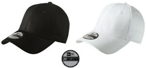New Era 39Thirty Caps Stretch Cotton Fitted NE1000 Hats - NEW (Black,White,Camo)