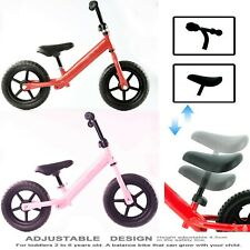 Children's Kids Balance Bike Metal Boys Girls Running Walking Training Bicycle