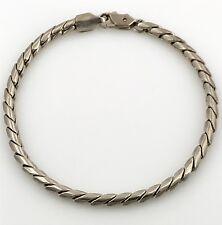 "Vintage Unisex .925 Sterling Silver 4mm Snake Chain Bracelet, 7.75"" Mexico"