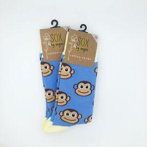 Monkey Socks,2 PAIR PACK,Novelty socks,Funky socks,Fancy socks