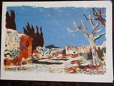 Roland OUDOT (1897-1981): Lithographie originale. Carte de voeux Sagot-Le Garrec