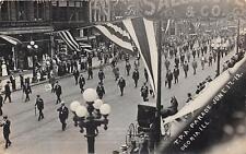 RPPC Peoria, IL June 1912 TPA Parade Street Scene Vintage Postcard 1913