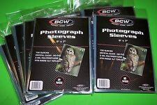 1000 5X7 Photo Sleeves-Crystal Clear-Archival Safe-Acid Free-2 Mil Thick- By Bcw