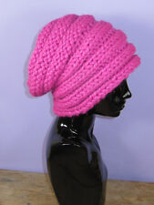 PRINTED INSTRUCTIONS-SUPER CHUNKY RIB BAND BEEHIVE SLOUCH HAT KNITTING PATTERN