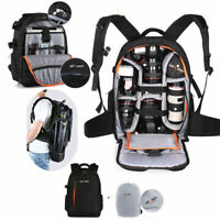 K&F Concept DSLR SLR Camera Backpack Bag Case Waterproof w/ Rain Cover for Canon