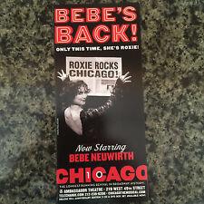 Chicago ad/flyer   musical  Broadway NYC  theater Bebe Neuwirth return
