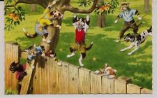 Mainzer Cats Postcard-#4867 Apple Thieves Cats Perfect Unused Condition