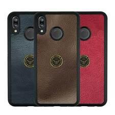Huawei P20 LITE Hülle Schutzhülle Leder Case Schale Back Cover GAZZI NATURAL