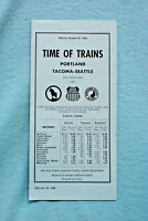 Time of Trains - Portland - Tacoma - Seattle, 10/27/68
