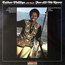 ESTHER PHILLIPS For All We Know VINYL LP Original 1976 Kudu LP