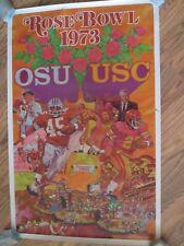 VINTAGE USC TROJANS vs OHIO STATE BUCKEYES 1973 ROSE BOWL POSTER NCAA