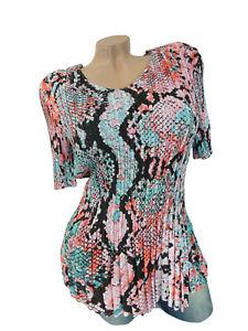 Plissee Damen Bluse Longshirt Shirt T-Shirt Classic Oberteil WS5 Top Gr 34-40