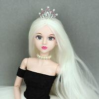 Fashion Dolls Headwear Hair Clip Crystal Mini Tiara Crown for 1/3 1/4 BJD