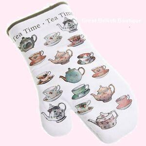 """Super """"Tea Time"""" Oven Mitt - for Burn Free Bakes & Fingers!"""