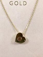Halskette mit Anhänger Gold 585 Kette Goldkette Echtschmuck Herz mit Stein 14Kt