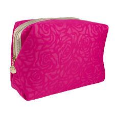 Lancome Flower Pattern Pink Cosmetic Makeup Travel Bag