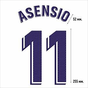 Asensio 11. Real Madrid Home football shirt 2020 2021 FLEX NAMESET NAME SET