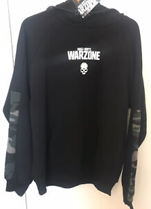Call Of Duty Warzone Mens Black Hoodie XXL BNWT