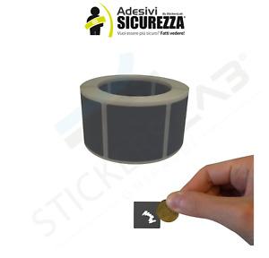 Bollini Label Scratch Apagado Modelo Rasguño Y Beat Adhesivos Forma Plaza Silver