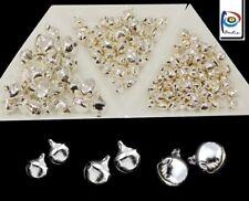 750 Glöckchen Silber 6/8/10mm Glocken Schellen mit Öse Mix Mini-Glocke Basteln