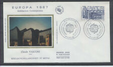 FRANCE FDC - 2471 1 EUROPA ARCHITECTURE - PARIS 25 Avril 1987 - LUXE sur soie