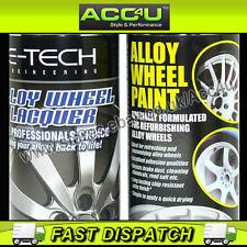 E-Tech Professional WHITE Car Alloy Wheel Spray Paint Lacquer Refurbishment Deal