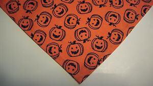 Dog Bandana/Scarf Cotton Slide On/Tie On Halloween Custom Made by Linda XS,S,M,L