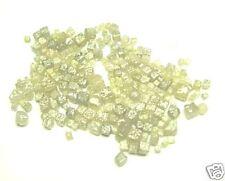 38.96 Carats 191 RARE Light COLOR Natural Uncut ROUGH DIAMONDS Cube Gems