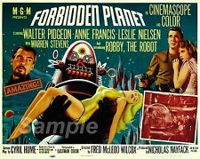 FP02 VINTAGE FORBIDDEN PLANET MOVIE POSTER A2 PRINT