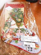 Sferra Needlepoint Christmas Stocking CHRISTMAS TOYS  Wool - NEW!