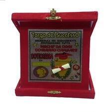 LAURE targa del successo dottoressa rossa personalizzabile 14x14 cm made in ital