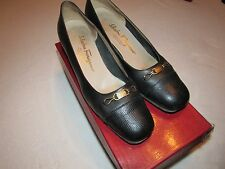 WOMENS VINTAGE SALVATORE FERRAGAMO HEELS SHOES SIZE 8.5 AA BOUTIQUE ITALY