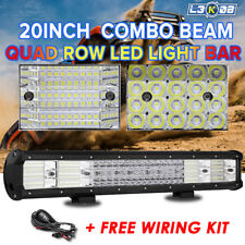 20inch 2016W QUAD ROW LED Work Light Bar Flood Spot Offroad Truck ATV 4WD 22/23""