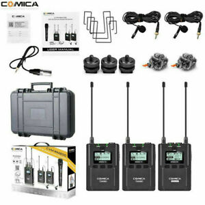 Comica CVM-WM200(A) UHF Wireless Lavalier Microphone System Dual-channel Record