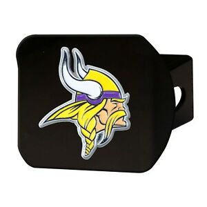 Fanmats NFL Minnesota Vikings 3D Color on Black Metal Hitch Cover Del. 2-4 Days