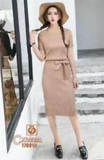 Plain Formal Dress - Brown