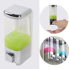 Wall Mount Shower Bath Liquid Shampoo Soap Dispenser Bathroom Accessories 480ML