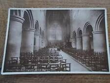 c1910 Postcard Real Photo PRIORY CHURCH Interior GREAT MALVERN WORCESTERSHIRE