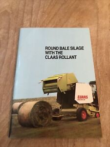 """Booklet """"Round Bale Silage With The Claas Rollant"""" Collectors Item Sales RARE"""