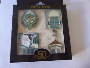 Disney Trading Pins Haunted Mansion 50th Anniversary Porch Pins Box Set