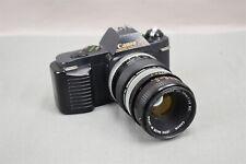 Canon T50 35mm Camera & Lens FD 50mm 1:1.8 Vivitar Macro Focusing Teleconverter