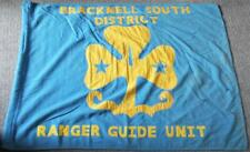 More details for ranger girl guides unit vintage bracknell south district flag / banner 48