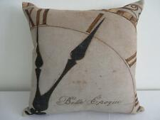 French Country 'Belle Epoque' Clock Linen Look Cushion Cover 45cmn