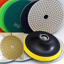 "5"" Diamond Polishing Pad Wet/Dry 12 PC + Damo Buff + Back Glass Granite Concrete"