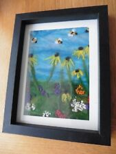 HAND MADE NEEDLE FELTED BOXED PICTURE OF SUMMER