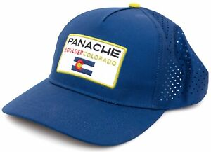 Panache Cyclewear Technical Mesh Trucker Hat ONE SIZE Blue Snap Close Colorado