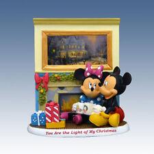 Disney You Are The Light Of My Christmas Mickey Minnie Figurine Thomas Kinkade