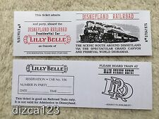 Disneyland Lilly Belle Railroad Ticket Presidential Car Ticket New (UNpunched)